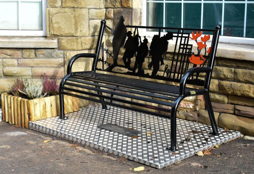 WW1 bench in situ