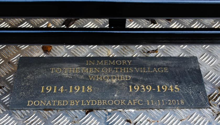 WW1 bench name